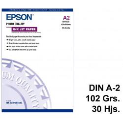 Papel ink-jet epson photo quality en formato din a-2 de 102 grs/m². caja de 30 hojas.