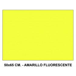 Cartulina fluorescente sadipal en formato 50x65 cm. de 230 grs/m². color amarillo.