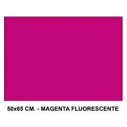 Cartulina fluorescente sadipal en formato 50x65 cm. de 230 grs/m². color magenta.