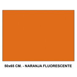 Cartulina fluorescente sadipal en formato 50x65 cm. de 230 grs/m². color naranja.