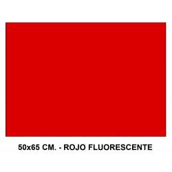 Cartulina fluorescente sadipal en formato 50x65 cm. de 230 grs/m². color rojo.