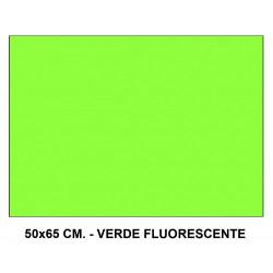 Cartulina fluorescente sadipal en formato 50x65 cm. de 230 grs/m². color verde.