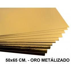 Cartulina metalizada liderpapel en formato 50x65 cm. de 235 grs/m². color oro.