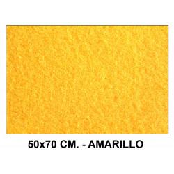 Fieltro liderpapel en formato 50x70 cm. de 160 grs/m². color amarillo.