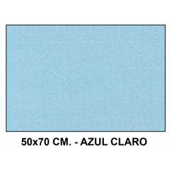 Fieltro liderpapel en formato 50x70 cm. de 160 grs/m². color azul claro.