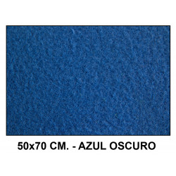 Fieltro liderpapel en formato 50x70 cm. de 160 grs/m². color azul oscuro.