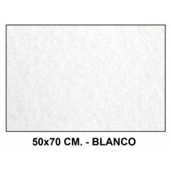 Fieltro liderpapel en formato 50x70 cm. de 160 grs/m². color blanco.
