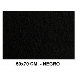 Fieltro liderpapel en formato 50x70 cm. de 160 grs/m². color negro.