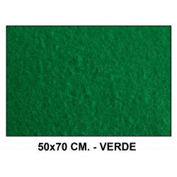 Fieltro liderpapel en formato 50x70 cm. de 160 grs/m². color verde.