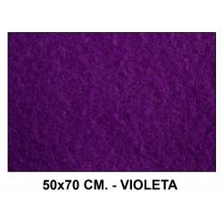 Fieltro liderpapel en formato 50x70 cm. de 160 grs/m². color violeta.