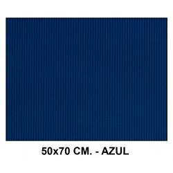 Cartón ondulado liderpapel en formato 50x70 cm. de 320 grs/m². color azul.