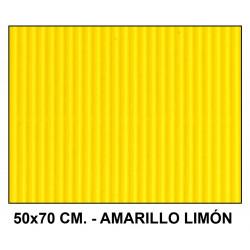 Cartón ondulado liderpapel en formato 50x70 cm. de 320 grs/m². color amarillo limón.