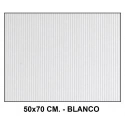Cartón ondulado liderpapel en formato 50x70 cm. de 320 grs/m². color blanco.