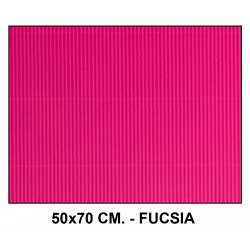 Cartón ondulado liderpapel en formato 50x70 cm. de 320 grs/m². color fucsia.