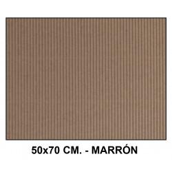 Cartón ondulado liderpapel en formato 50x70 cm. de 320 grs/m². color marrón.