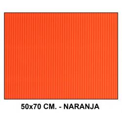 Cartón ondulado liderpapel en formato 50x70 cm. de 320 grs/m². color amarillo.