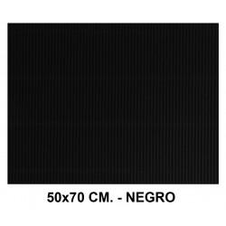Cartón ondulado liderpapel en formato 50x70 cm. de 320 grs/m². color negro.