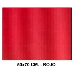 Cartón ondulado liderpapel en formato 50x70 cm. de 320 grs/m². color rojo.