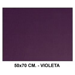 Cartón ondulado liderpapel en formato 50x70 cm. de 320 grs/m². color violeta.