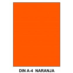Goma eva liderpapel en formato din a-4 de 60 grs/m². color naranja, paquete de 10 uds.