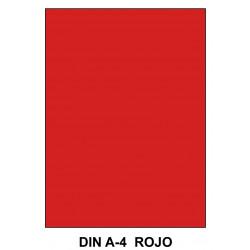 Goma eva liderpapel en formato din a-4 de 60 grs/m². color rojo, paquete de 10 uds.