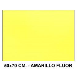 Goma eva liderpapel en formato 50x70 cm. de 60 grs/m². color amarillo flúor.