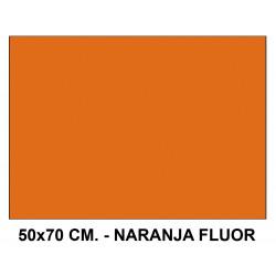 Goma eva liderpapel en formato 50x70 cm. de 60 grs/m². color naranja flúor.