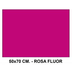 Goma eva liderpapel en formato 50x70 cm. de 60 grs/m². color rosa flúor.