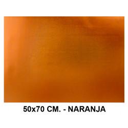 Goma eva metalizado liderpapel en formato 50x70 cm. de 60 grs/m². color naranja.