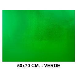 Goma eva metalizada liderpapel en formato 50x70 cm. de 60 grs/m². color verde.