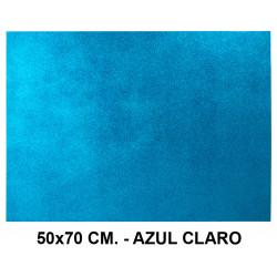 Goma eva con purpurina liderpapel en formato 50x70 cm. de 60 grs/m². color azul claro.