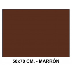 Goma eva liderpapel en formato 50x70 cm. de 60 grs/m². color marrón.