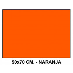 Goma eva liderpapel en formato 50x70 cm. de 60 grs/m². color naranja.