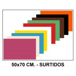 Goma eva liderpapel en formato 50x70 cm. de 60 grs/m². colores surtidos.