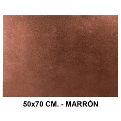 Goma eva con purpurina liderpapel en formato 50x70 cm. de 60 grs/m². color marrón.
