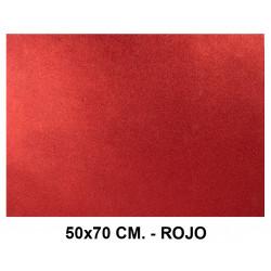 Goma eva con purpurina liderpapel en formato 50x70 cm. de 60 grs/m². color rojo.