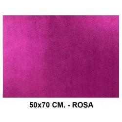 Goma eva con purpurina liderpapel en formato 50x70 cm. de 60 grs/m². color rosa.