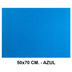 Goma eva con textura toalla liderpapel en formato 50x70 cm. de 60 grs/m². color azul.