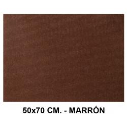 Goma eva con textura toalla liderpapel en formato 50x70 cm. de 60 grs/m². color marrón.