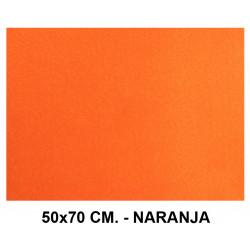 Goma eva con textura toalla liderpapel en formato 50x70 cm. de 60 grs/m². color naranja.