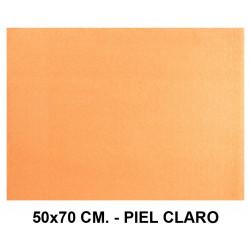 Goma eva con textura toalla liderpapel en formato 50x70 cm. de 60 grs/m². color piel claro.