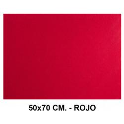 Goma eva con textura toalla liderpapel en formato 50x70 cm. de 60 grs/m². color rojo.