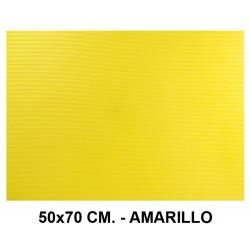Goma eva ondulada liderpapel en formato 50x70 cm. de 60 grs/m². color amarillo.