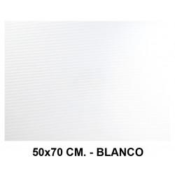 Goma eva ondulada liderpapel en formato 50x70 cm. de 60 grs/m². color blanco.