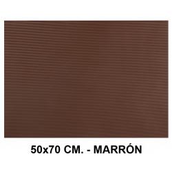Goma eva ondulada liderpapel en formato 50x70 cm. de 60 grs/m². color marrón.