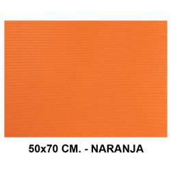 Goma eva ondulada liderpapel en formato 50x70 cm. de 60 grs/m². color naranja.