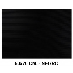 Goma eva ondulada liderpapel en formato 50x70 cm. de 60 grs/m². color negro.