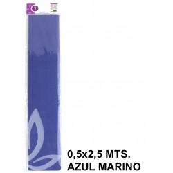 Papel crespón o pinocho de 0,5x2,5 mts. en color azul marino.