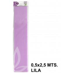 Papel crespón o pinocho de 0,5x2,5 mts. en color lila.