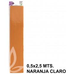 Papel crespón o pinocho de 0,5x2,5 mts. en color naranja claro.